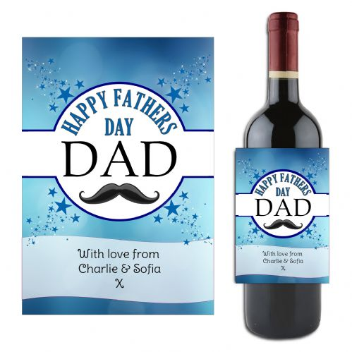 Personalised Happy Fathers Day Dad Wine / Champagne Bottle Label Gift for him N185